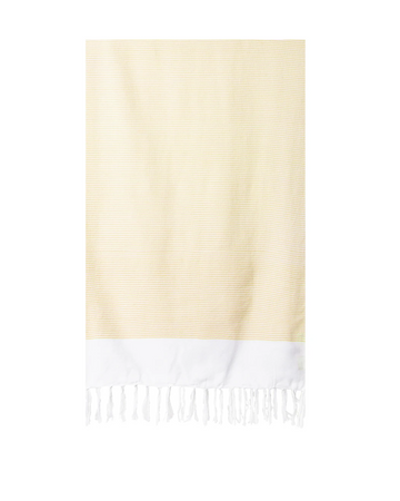 Lightweight Fringe Towel / Yellow - The Feedfeed Shop