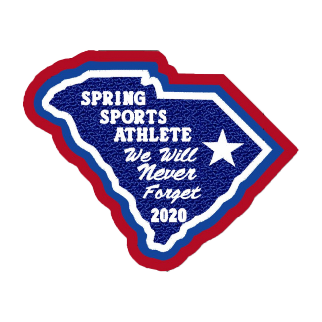 South Carolina Spring Sports Athlete Patch