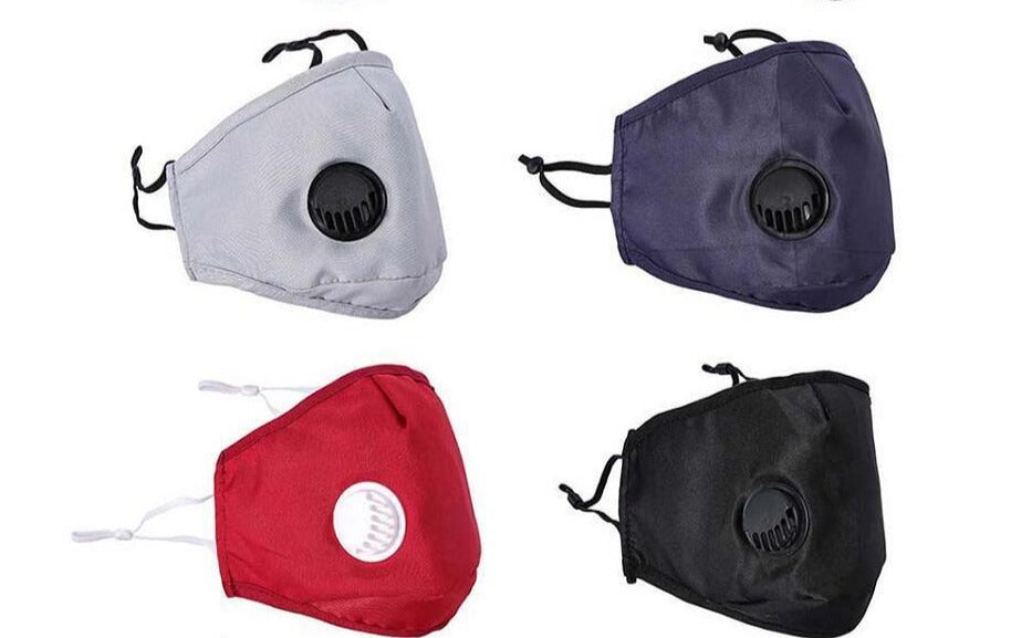 Solid Reusable Masks Adult 5 pcs