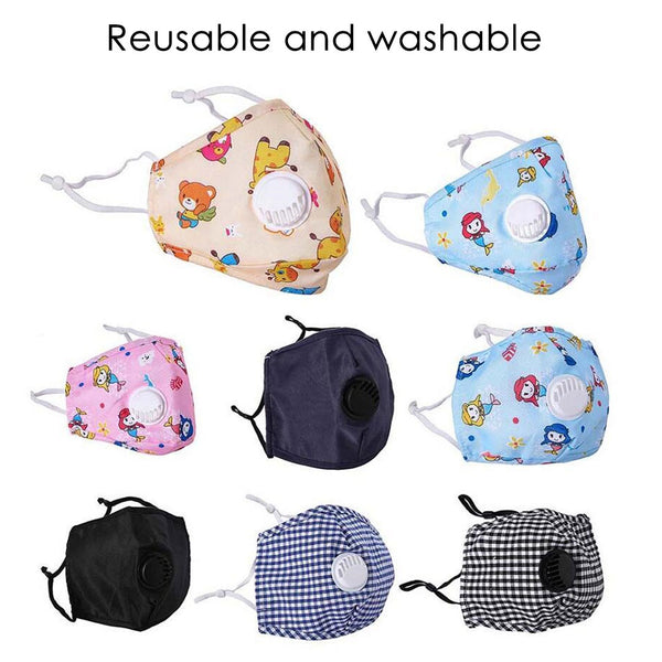 Printed Reusable Masks Children 5 pcs