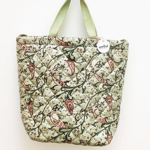 Premium Recycled Silk Tote Bag (One-Off Print)