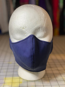 Navy Blue with Subtle Sheen Cloth Mask