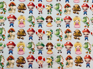 Cutie Mario Brothers Nintendo Characters  Custom Made Cotton Cloth Mask