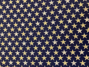 Patriotic Stars on Blue in Cotton Canvas Custom Made Cloth Mask