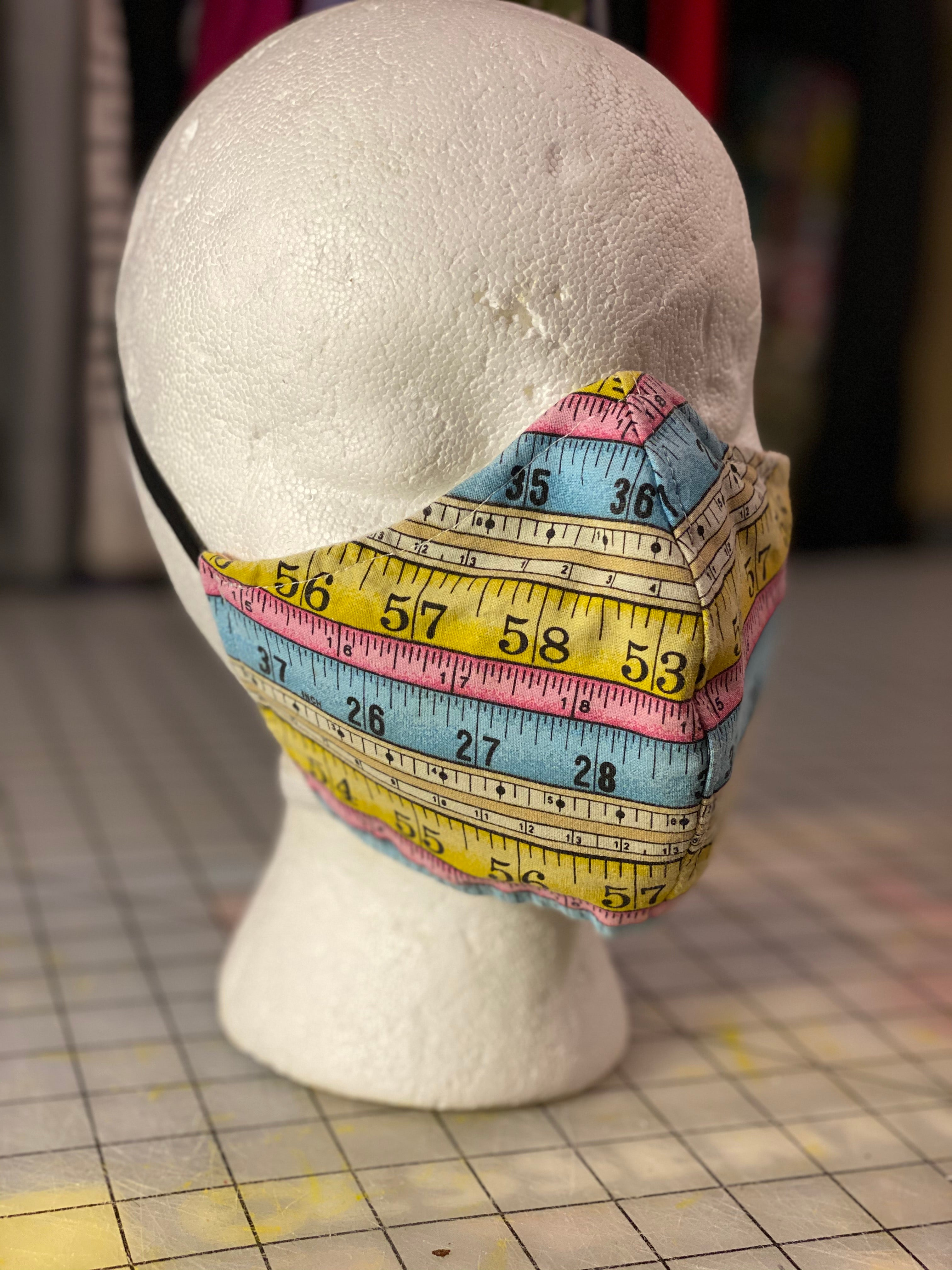 Measuring Tape Cotton  Custom Made Cloth Mask