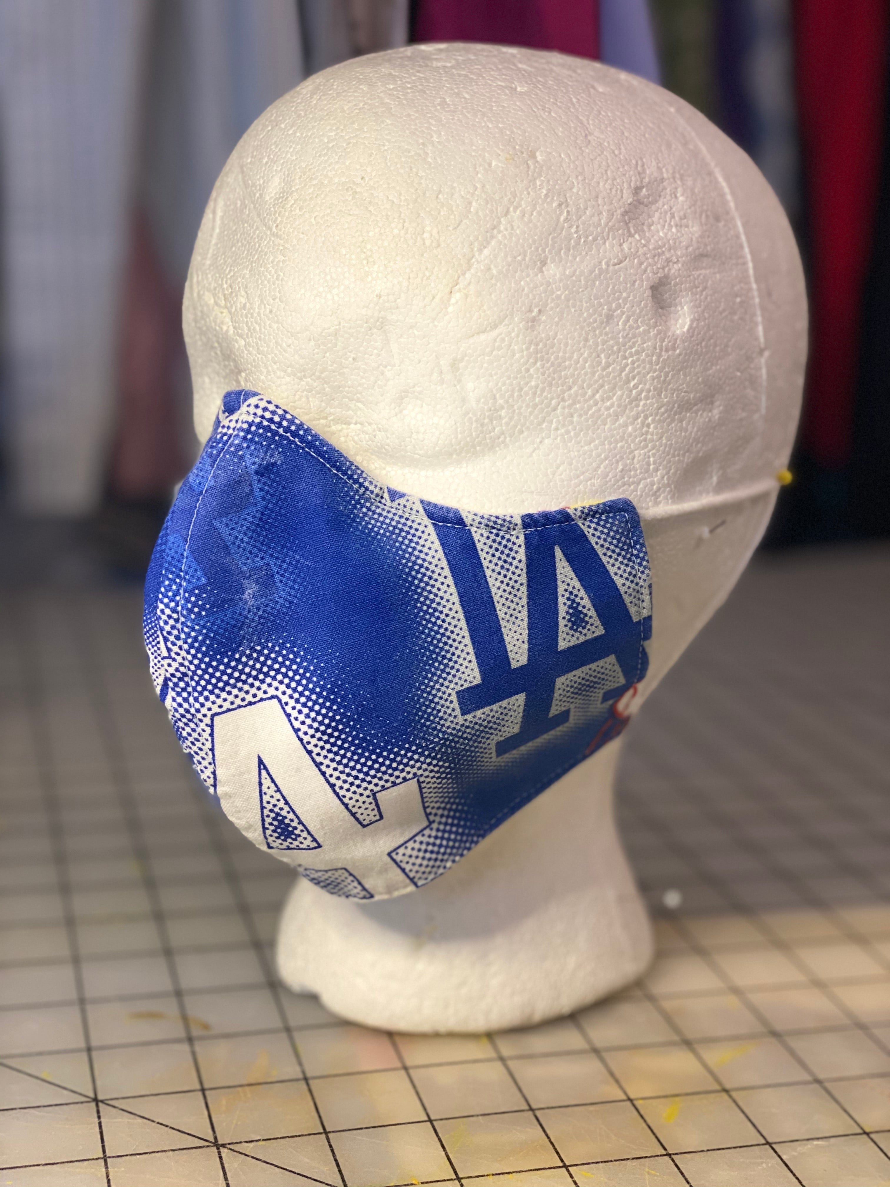 Los Angeles Dodger Baseball Large print Custom Made Cotton Cloth Mask