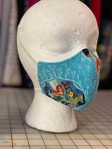 Little Mermaid Custom Made Cotton Cloth Mask