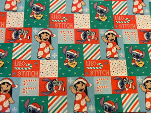 Christmas Lilo and Stitch Custom Made Cotton Cloth Mask