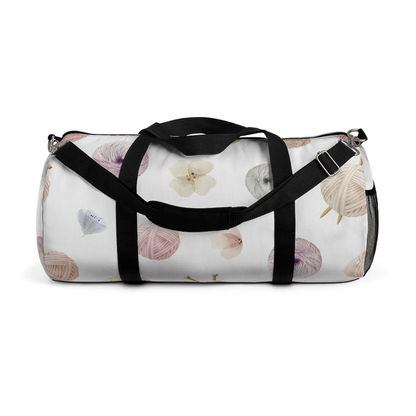 Flowers and Yarn Duffel Bag