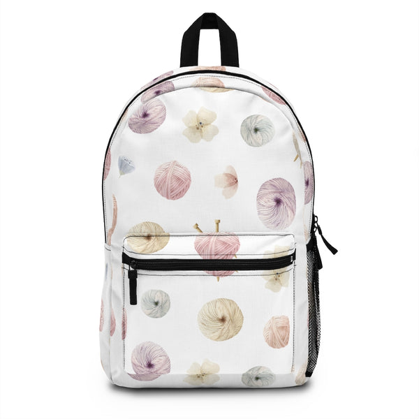 Flowers and Yarn Backpack