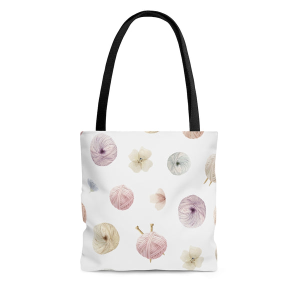 Flowers and Yarn Tote Bag