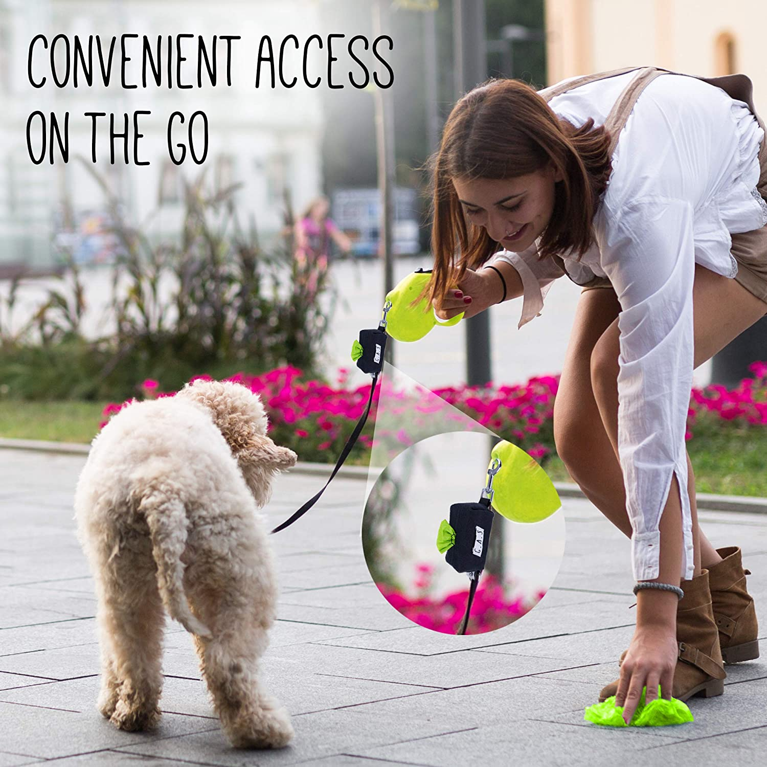 Dog poop bags dispenser: a way to have your compostable poop bags ready on the go