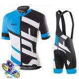 Kit Ciclismo Pro Camisa + Bretelle BLUE Team Ralvpha