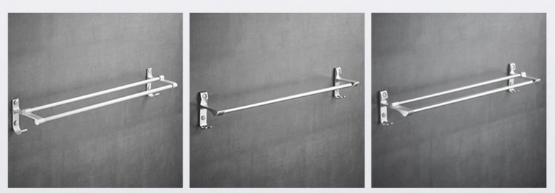 Wall Mounted Bathroom Towel Rail Single/Double - Home To Home Store