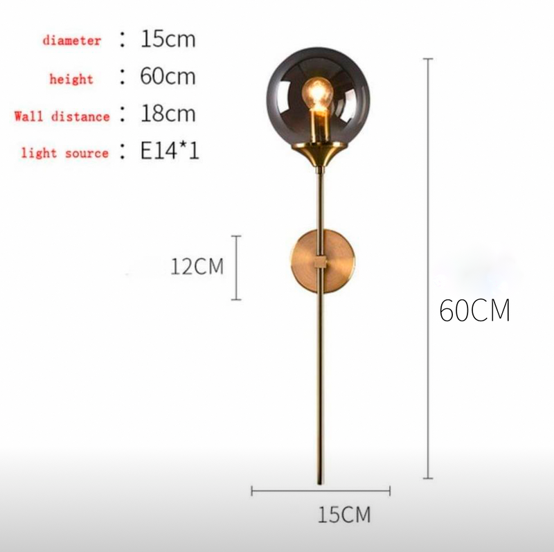 Bellucci™ Elegant Glass Wall Lamp in Smokey Grey/Amber/Clear - Home To Home Store