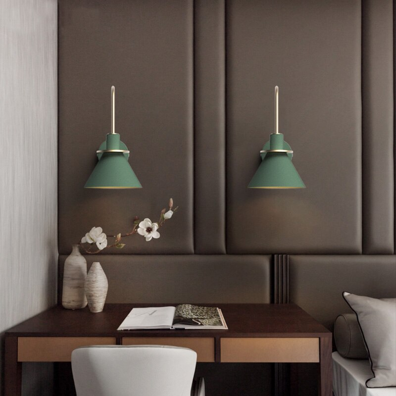 3 Colour Modern minimalist adjustable wall-mounted LED lamp E27 - Home To Home Store