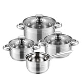Velaze Cookware Set Stainless Steel 7-Piece Kitchen Cooking Pot&Pan Set,Saucepan,Casserole,Steamer,Frypan with Glass lid - Home To Home Store