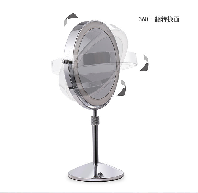 8 inch Table Lifting Mirror, 10X Magnifying Double Mirror with LED Light Rotate 360 degrees - Home To Home Store
