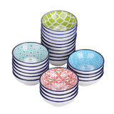 Vancasso Macaron 8/16/24-Piece 4-Design Hand Painted Porcelain Dipping Dishes Plate Set (8.8*8.8*2.8cm) - Home To Home Store