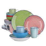 Vancasso Macaron 20-Pieces Porcelain Multi-Colour Dinnerware Set with 4*Dinner Plate,Dessert Plate,Soup Plate,Bowl,Mug Set - Home To Home Store