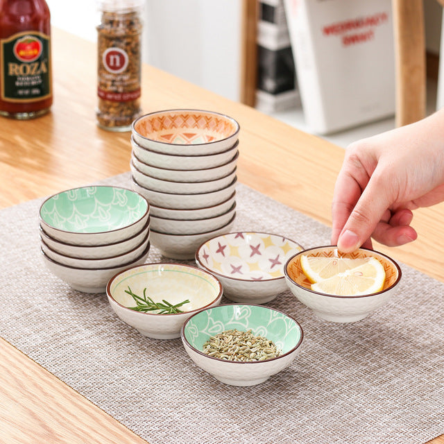 Vancasso Tulip Dipping Dishes 8/16/24 Pieces Hand Painted Mandala Patterned Porcelain Appetiser Dishes Set(8.8*8.8*2.8cm) - Home To Home Store