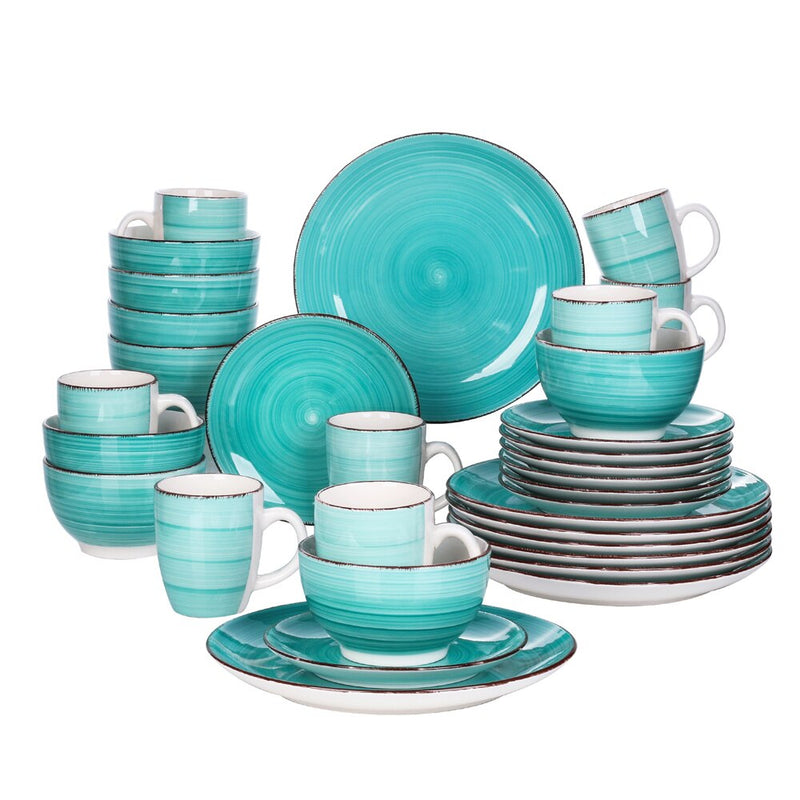 Vancasso Bella-G 32-Pieces Porcelain Dinner Set Vintage Look Ceramic Plate Set Service for 8 - Home To Home Store