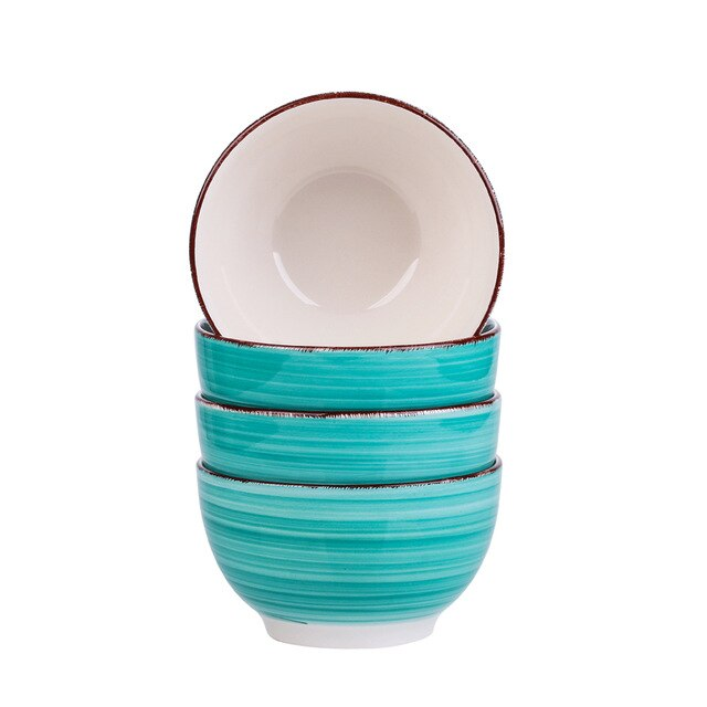 Vancasso Bella-G 4/8/12-Piece 750ML Porcelain Vintage Handpainted Ceramic Serving Bowl Set - Home To Home Store