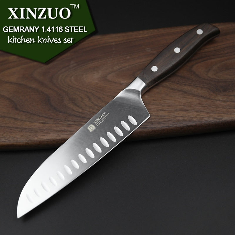 XINZUO 6 PCS Kitchen Knife Set High Carbon Stainless Steel - Home To Home Store