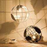 Nordic LED globe pendant light iron black / white light - Home To Home Store