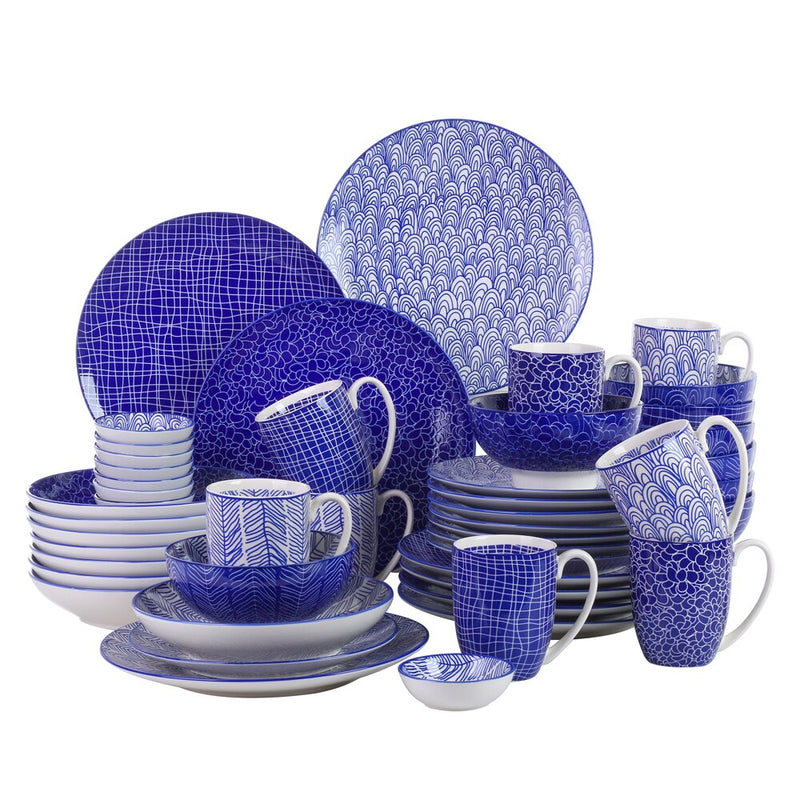 Vancasso TAKAKI 48 Pieces Porcelain Japanese Style Dinner Set for 8 person - Home To Home Store
