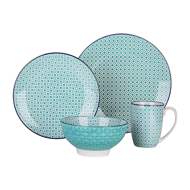 Vancasso Macaron 48-Pieces Porcelain Ceramic Dinnerware Tableware Set with 12*Dinner Plate,Dessert Plate,Bowl,Mug Set - Home To Home Store