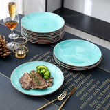 Vancasso Bella-G 4/8/12-pieces Porcelain Ceramic Handpainted Dinner Plate Set (27*27*2.8cm) - Home To Home Store