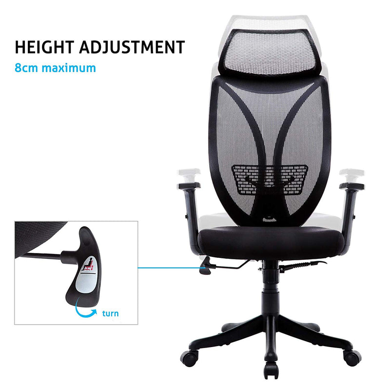 High Back Executive Office Chair Adjustable Armrests /Computer Chair Head Support - Home To Home Store
