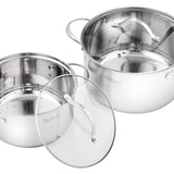 Velaze Cookware Set Stainless Steel 14-Piece - Home To Home Store