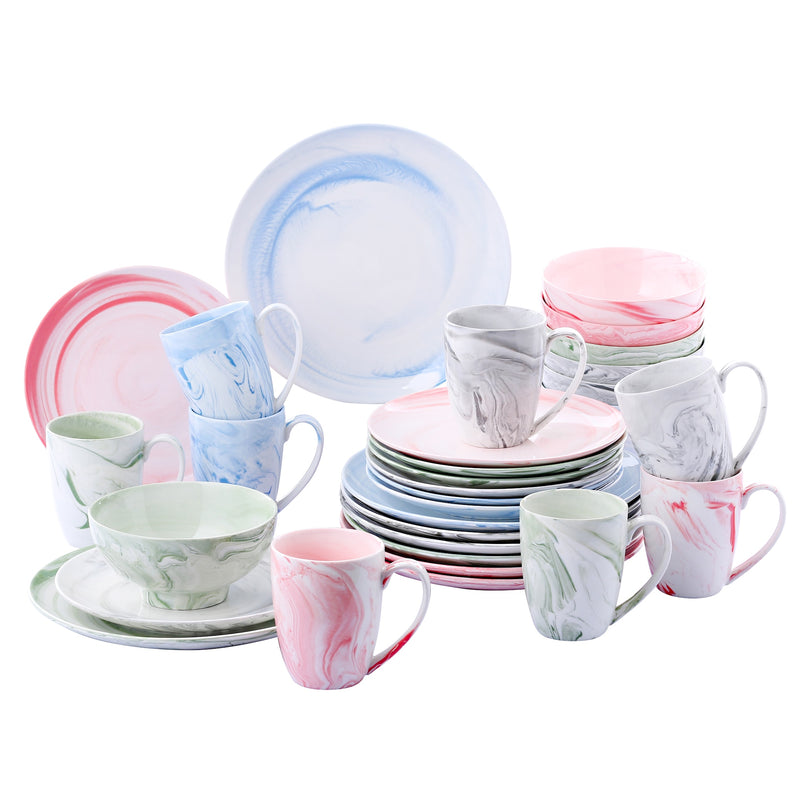 Vancasso Chloe 32-Piece Multicolor Ceramic Porcelain Dinner Set for 8 person - Home To Home Store