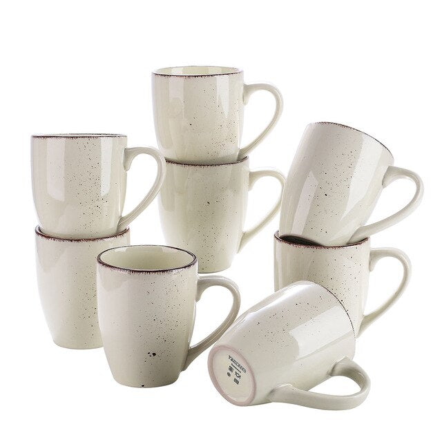 Vancasso Navia-C Drink Cup Set 8/12-Piece 350ML Nature Vintage Look Mug - Home To Home Store