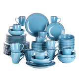 Vancasso Navia-DB 16/32/48-Piece Ceramic Stoneware Dinnerware Plate Set Service for 4, 8 and 12 - Home To Home Store