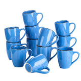 Vancasso Navia Dark Blue Drink Cup Set 8/12-Piece 350ML Nature Vintage Look Mug - Home To Home Store