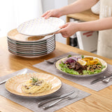 Vancasso TULIP 4/8/12-Pieces 4-Design Porcelain Multi-Colour Mandala Dinner Plate Set - Home To Home Store