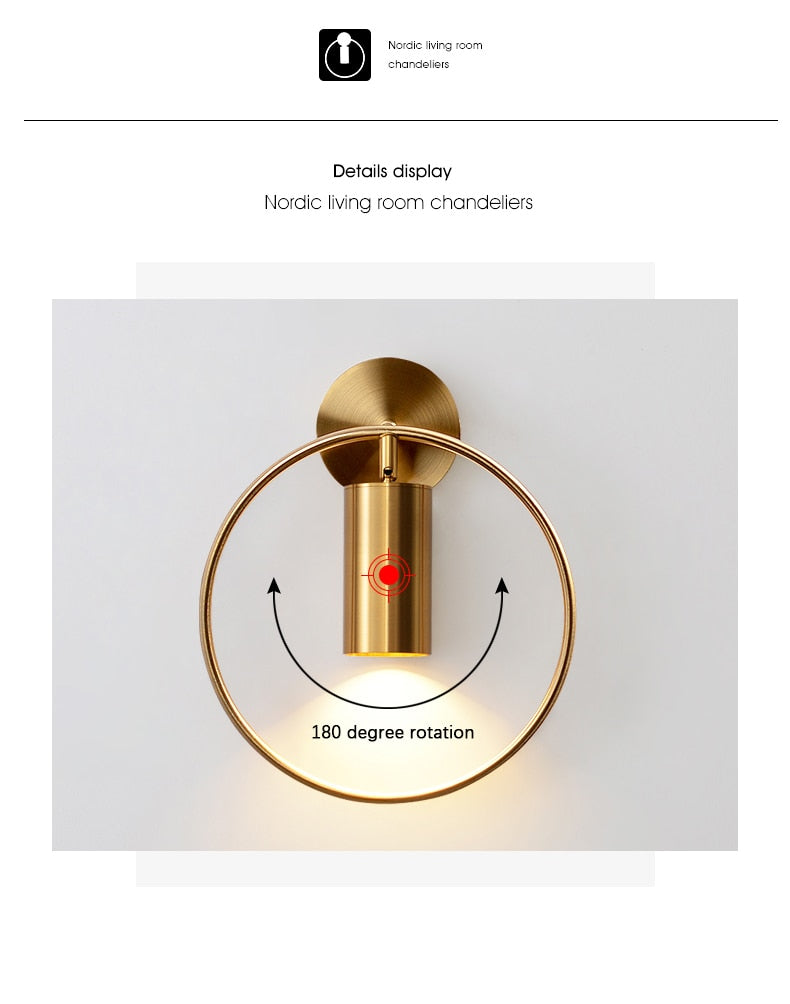 Luxury Mirror Wall Lamp LED Light Fixture in 3 Colors