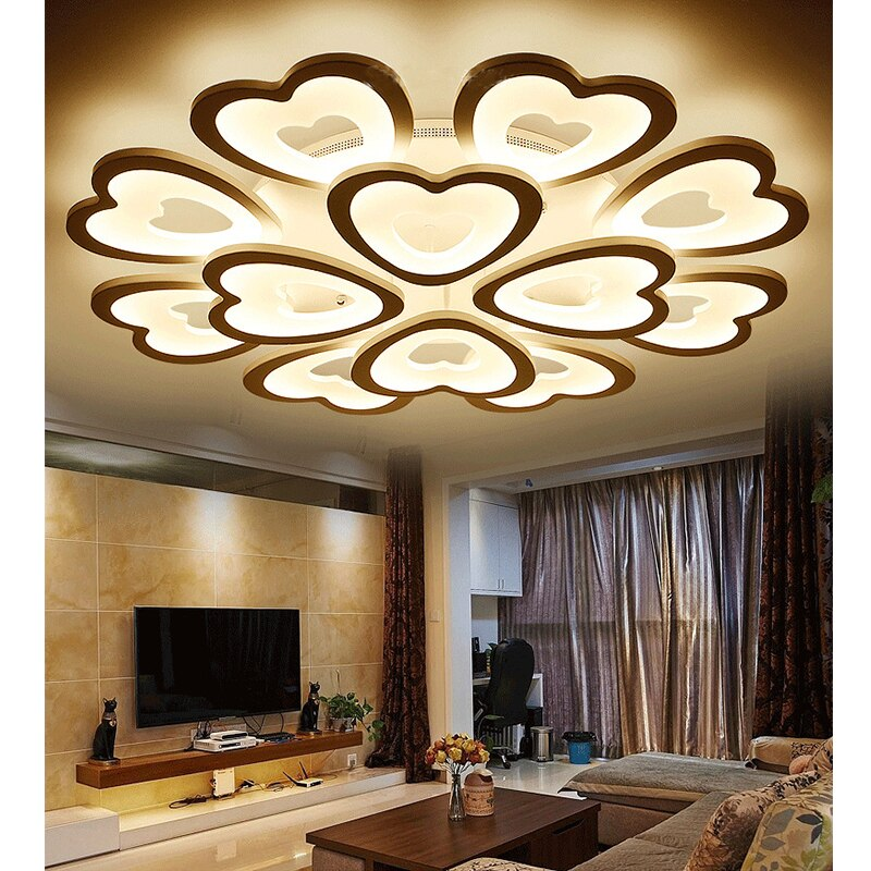 Acrylic Loving Heart LED Ceiling Light by EKOO - Home To Home Store