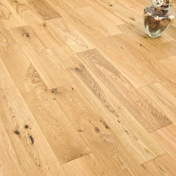 Solid Rustic Oak 18mm x 90mm Lacquered - Floorstorehome