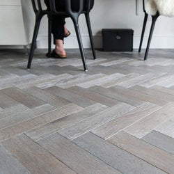 15/4 Herringbone Silver Hard Wax Oiled Oak 90mm - Floorstorehome