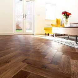 15/4 Herringbone Brown Brushed & Hard-Wax Oiled 90mm - Floorstorehome