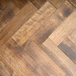 15/4 Herringbone Brown Brushed & Hard-Wax Oiled 90mm