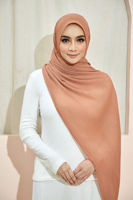 PLEATED SHAWL - APRICOT