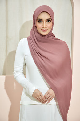 PLEATED SHAWL - DUSTY PINK