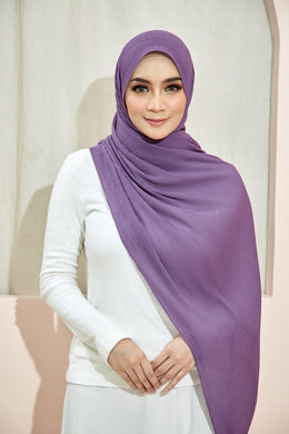 PLEATED SHAWL - DUSTY PURPLE