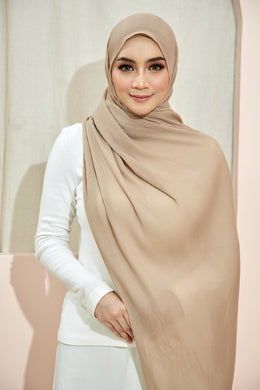 PLEATED SHAWL - KHAKI