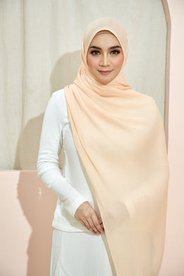 PLEATED SHAWL - PEACH